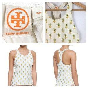 Tory Burch Pineapple Swim Top Mira Surf Shirt